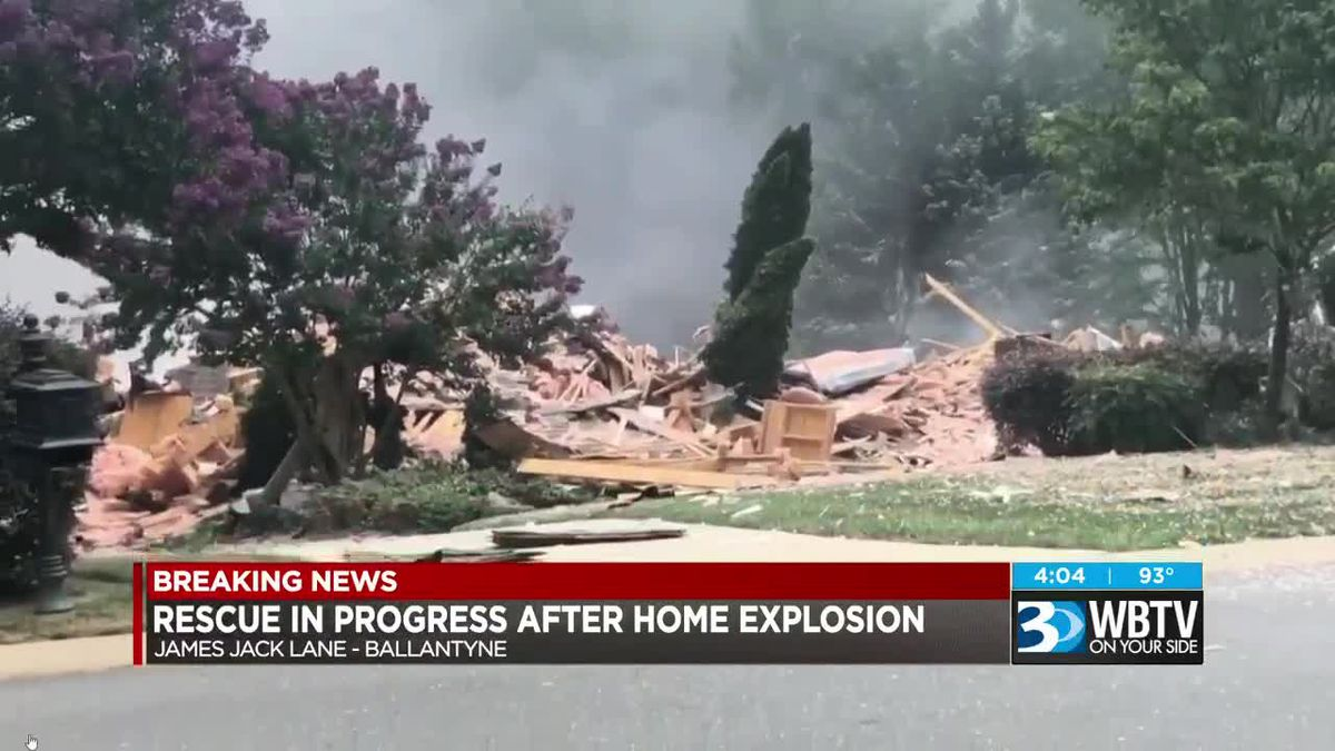 Rescue in progress after home explosion in Ballantyne