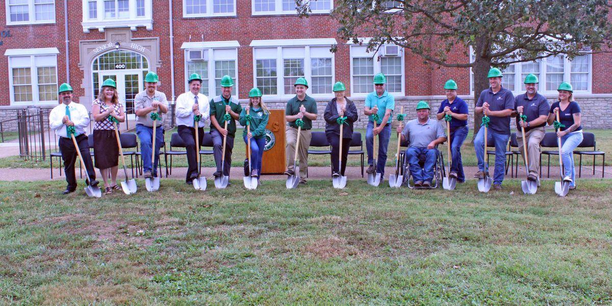Perry County school alumni gifts paver garden to school