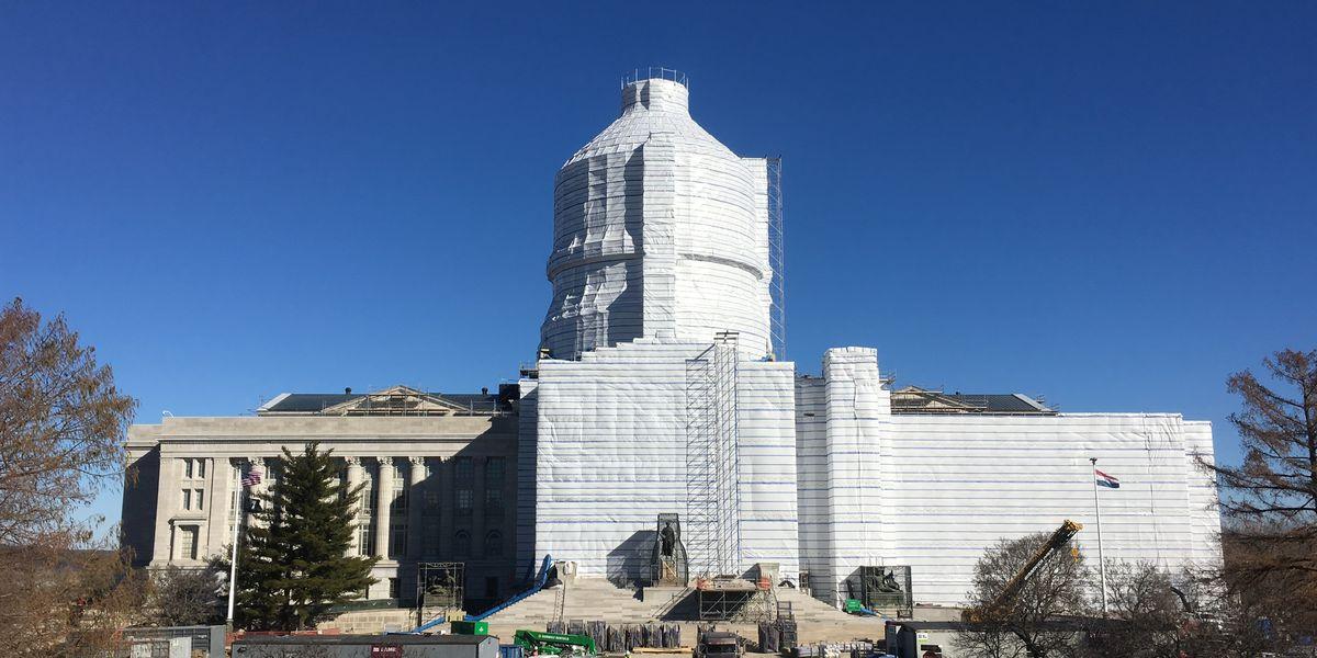 Construction progress on Missouri Capitol