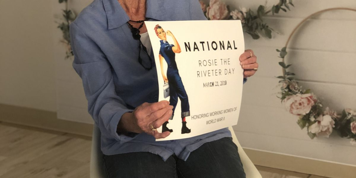 Real-life 'Rosie the Riveter' shares memories of working during WWII