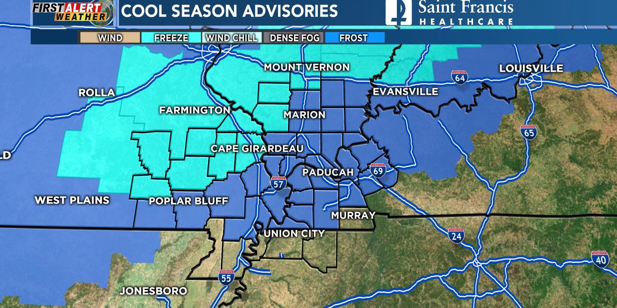First Alert: Freeze Warning, Frost Advisory issued