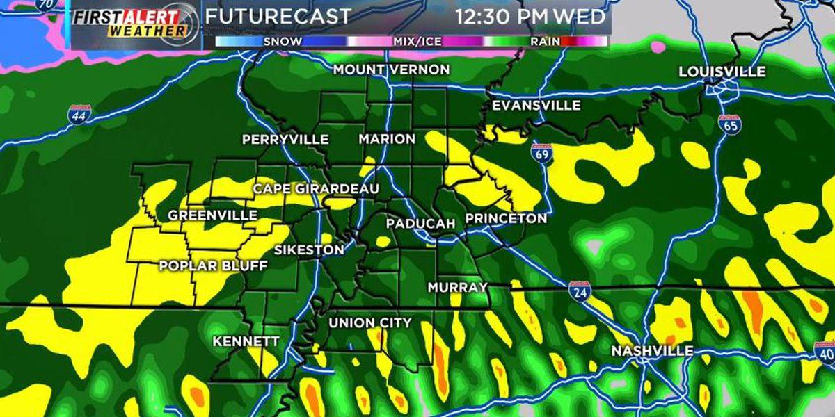 First Alert: More rain tonight through Wednesday