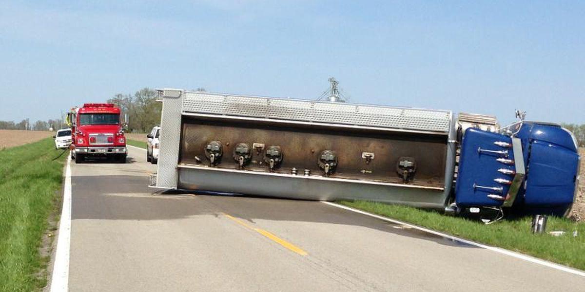 Overturned tanker postpones emergency responder drill