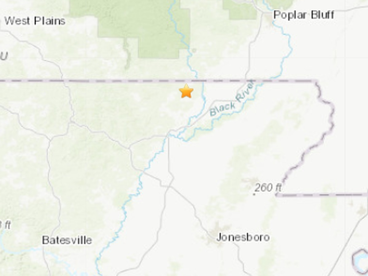2.5M earthquake detected near Maynard, Ar.