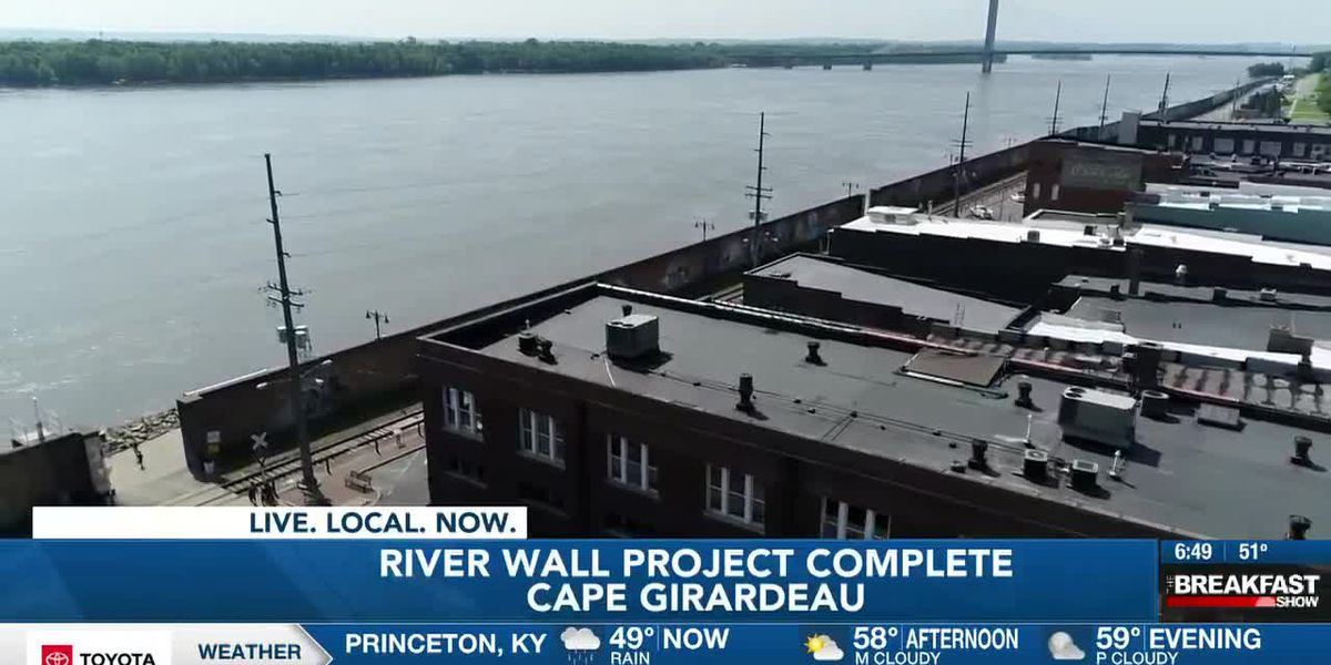 Cape Girardeau river wall improvement project completion celebration