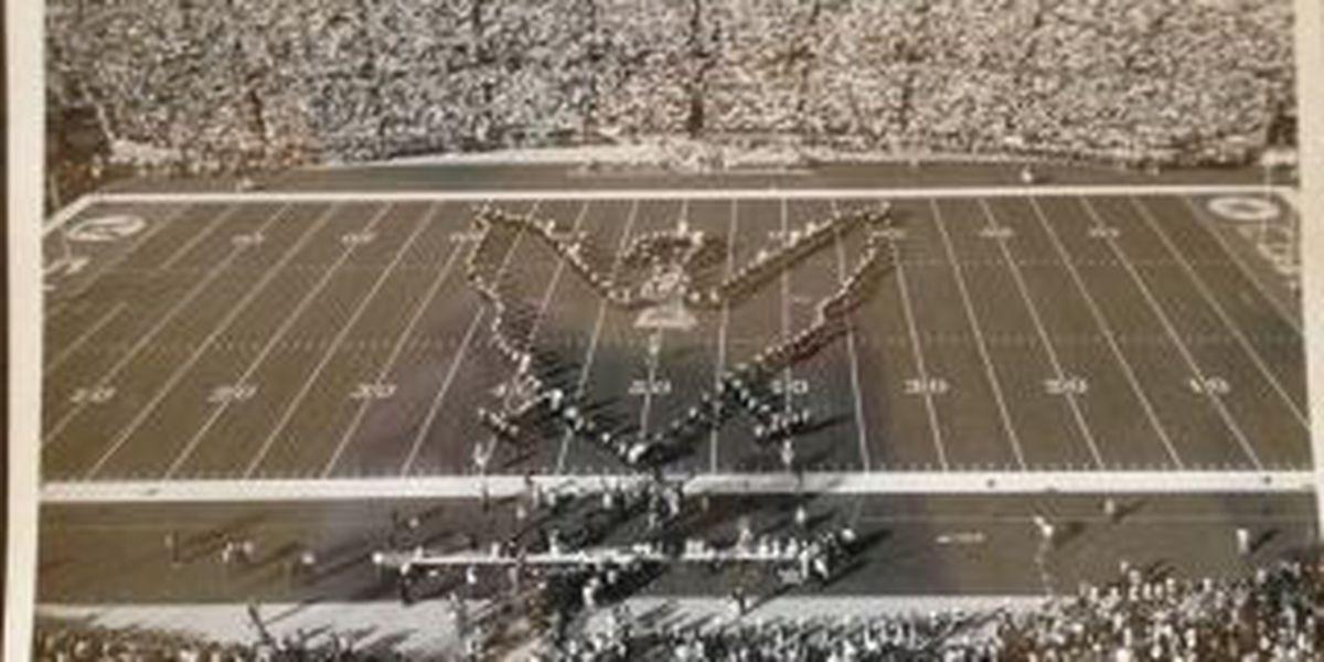 1971: Southeast Missouri State University Golden Eagles march at Super Bowl V