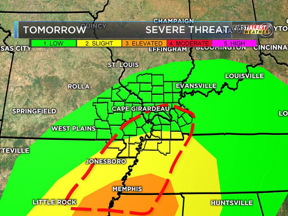 FIRST ALERT ACTION DAY tomorrow due to severe weather, flooding