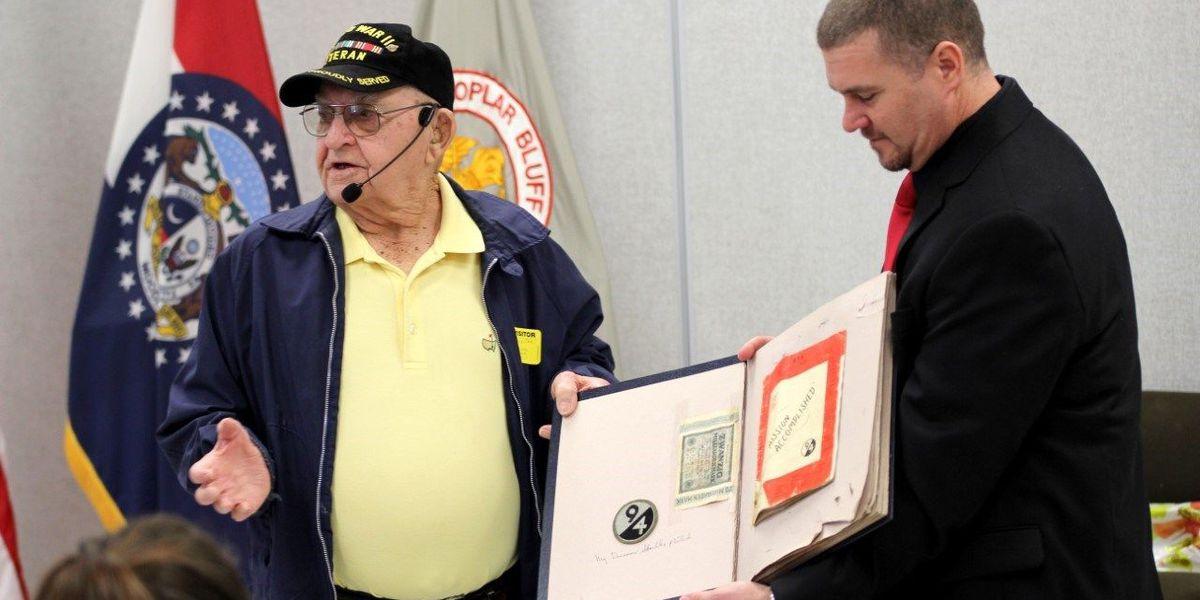 WWII veteran visits Poplar Bluff High School history class