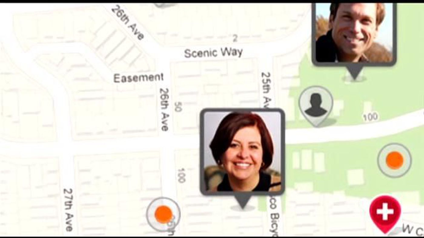 Families try out GPS tracking apps for Halloween night