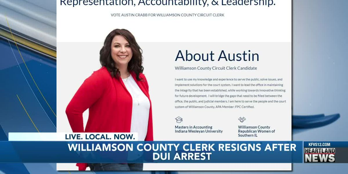 Williamson County circuit clerk resigns after DUI arrest