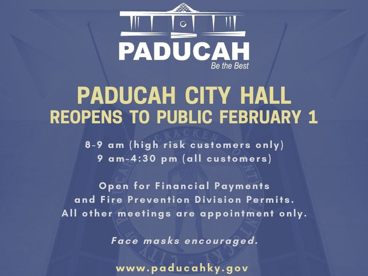 Paducah City Hall to reopen with limited access