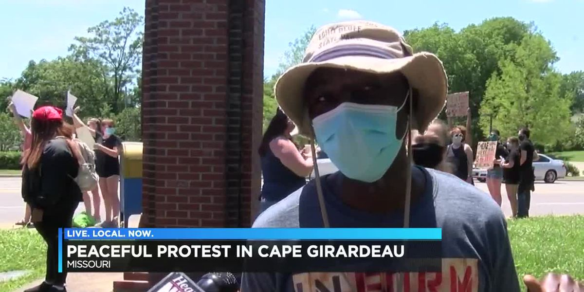 More than a hundred protest in Black Lives Matter Movement in Cape Girardeau