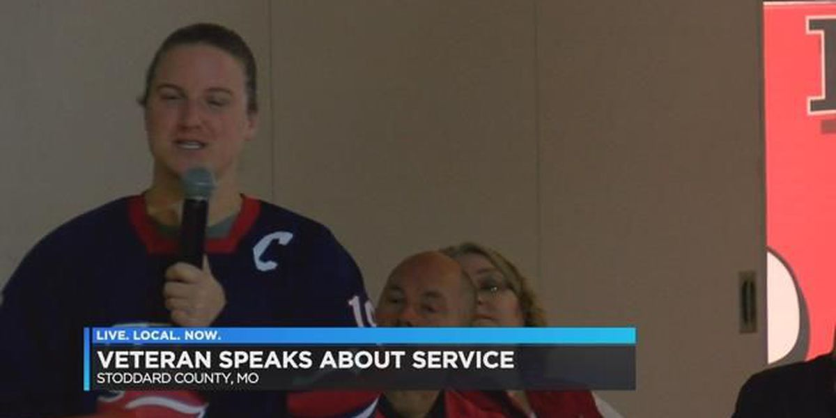 Veteran talks to students in Essex, MO about what it means to serve