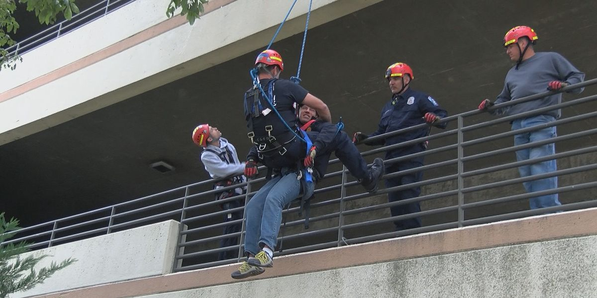Cape Girardeau firefighters train for rope rescues