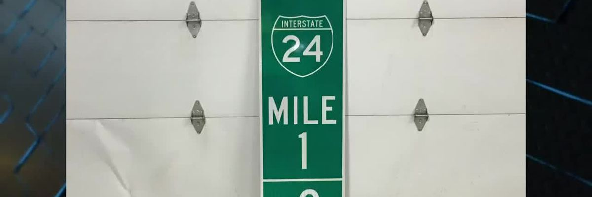 New mile markers on I-24 near Paducah