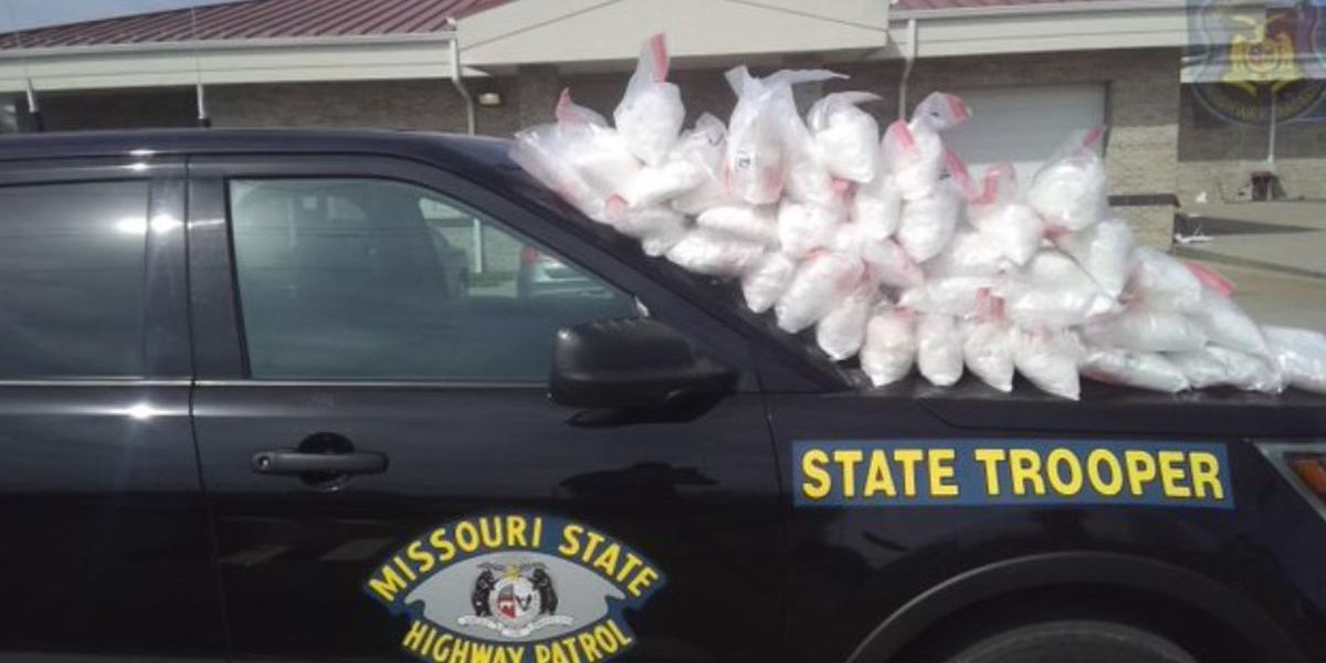 MSHP trooper recovers 88 pounds of meth from traffic stop in Saline County, Mo.