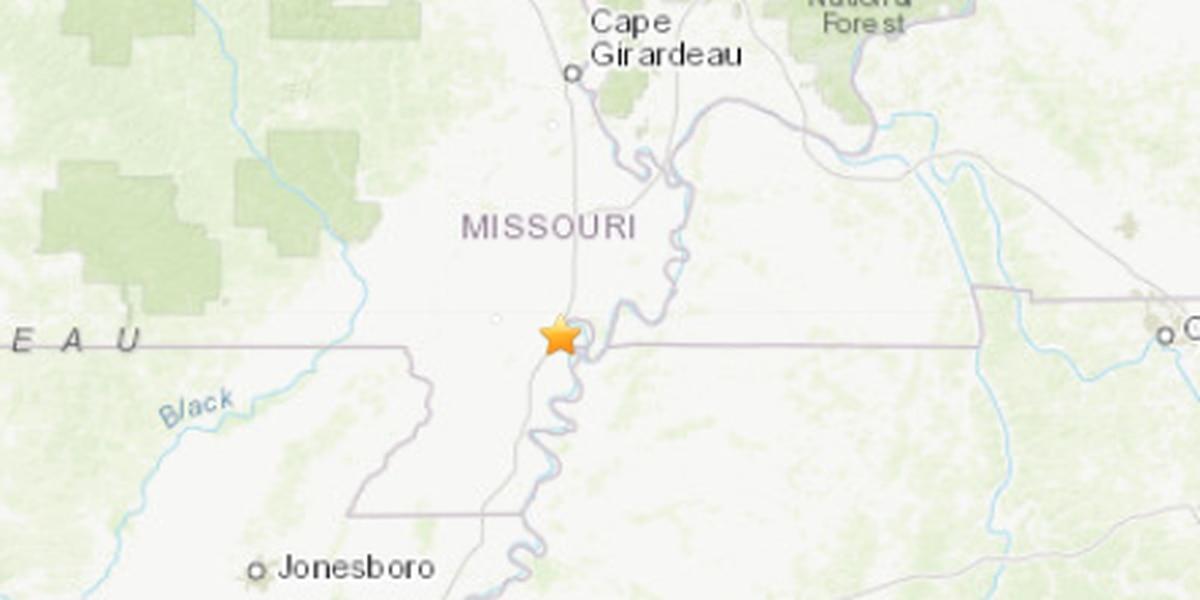 2.3 magnitude quake felt in southeast MO