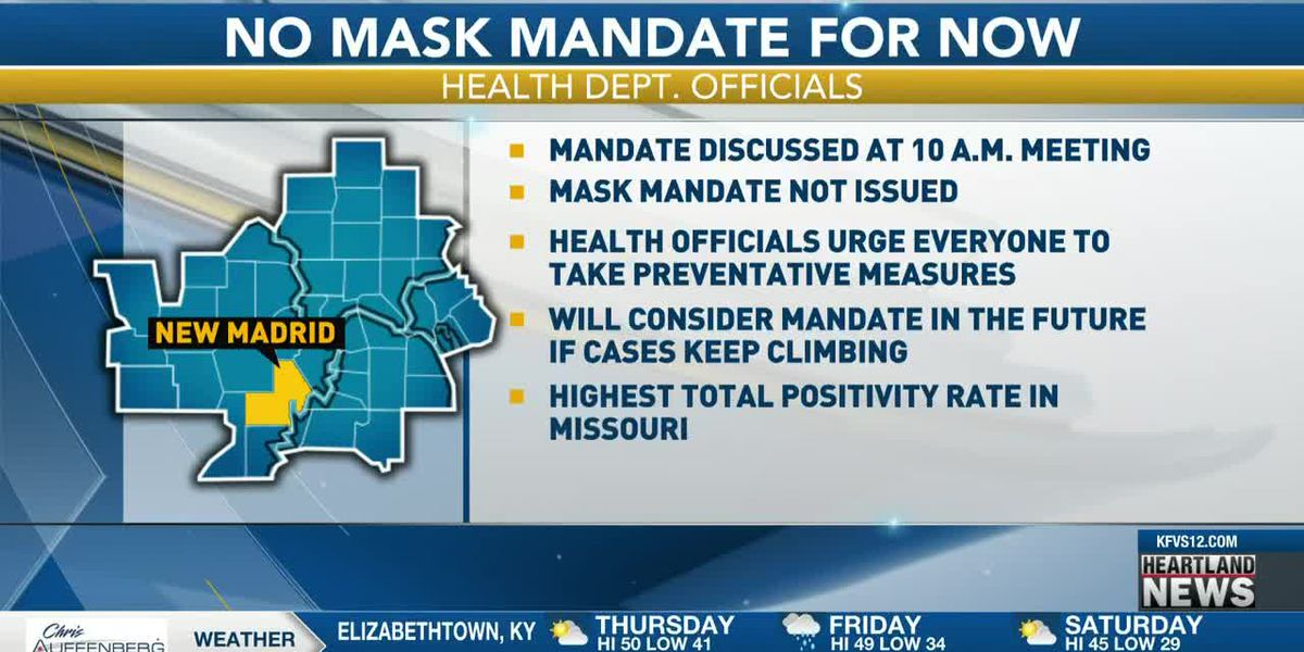 New Madrid Co. meeting on possible mask mandate