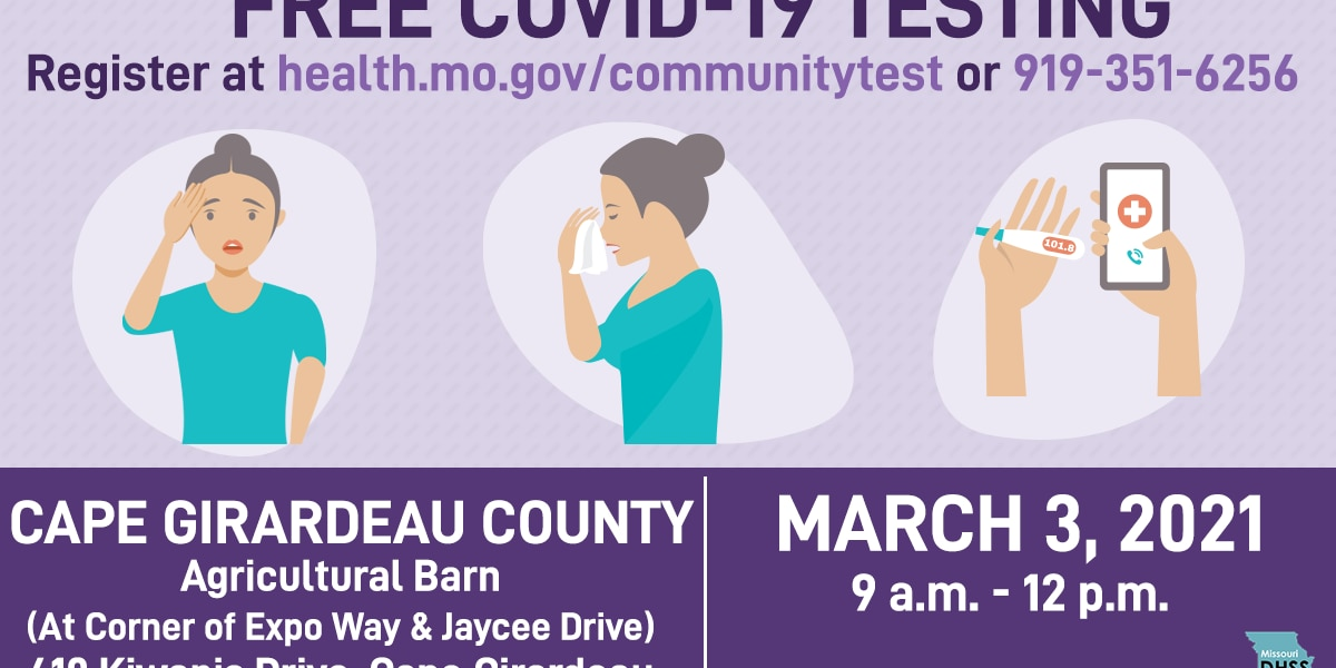Free COVID-19 testing event held in Cape Girardeau County