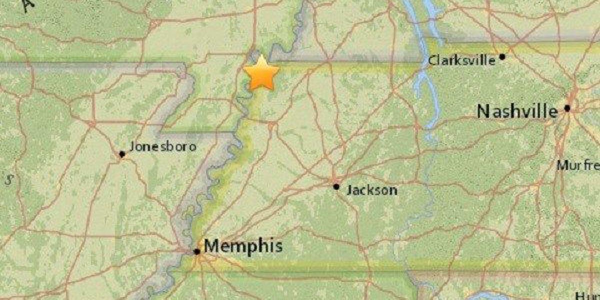 Magnitude 2.0 earthquake recorded near Tiptonville, TN