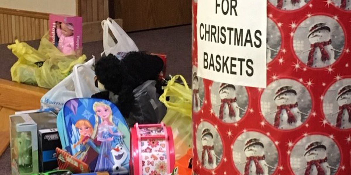 Bikers drop off toys for Christmas toy drive in Cape Girardeau, Mo.