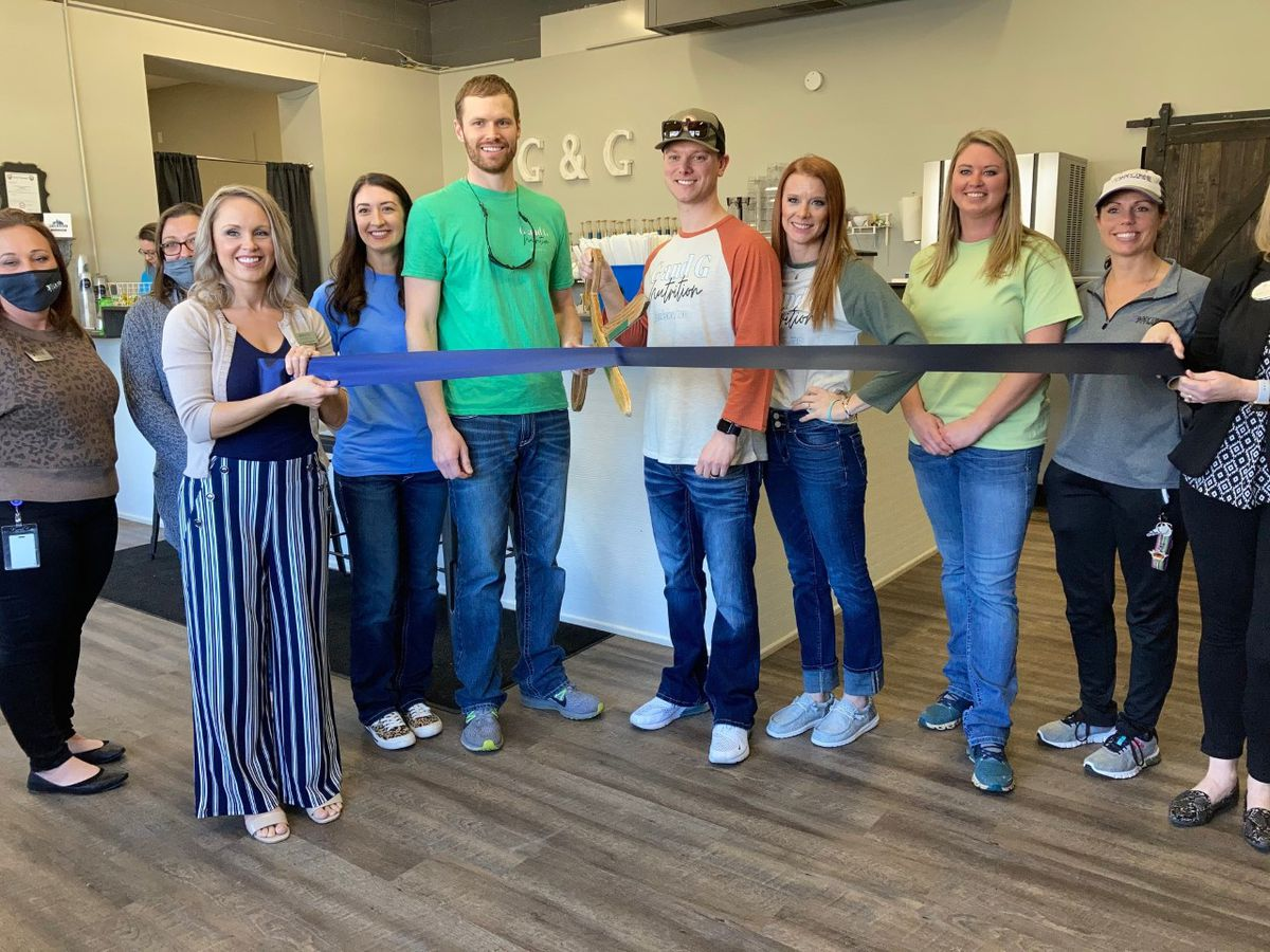 Ribbon cutting for new business in Jackson