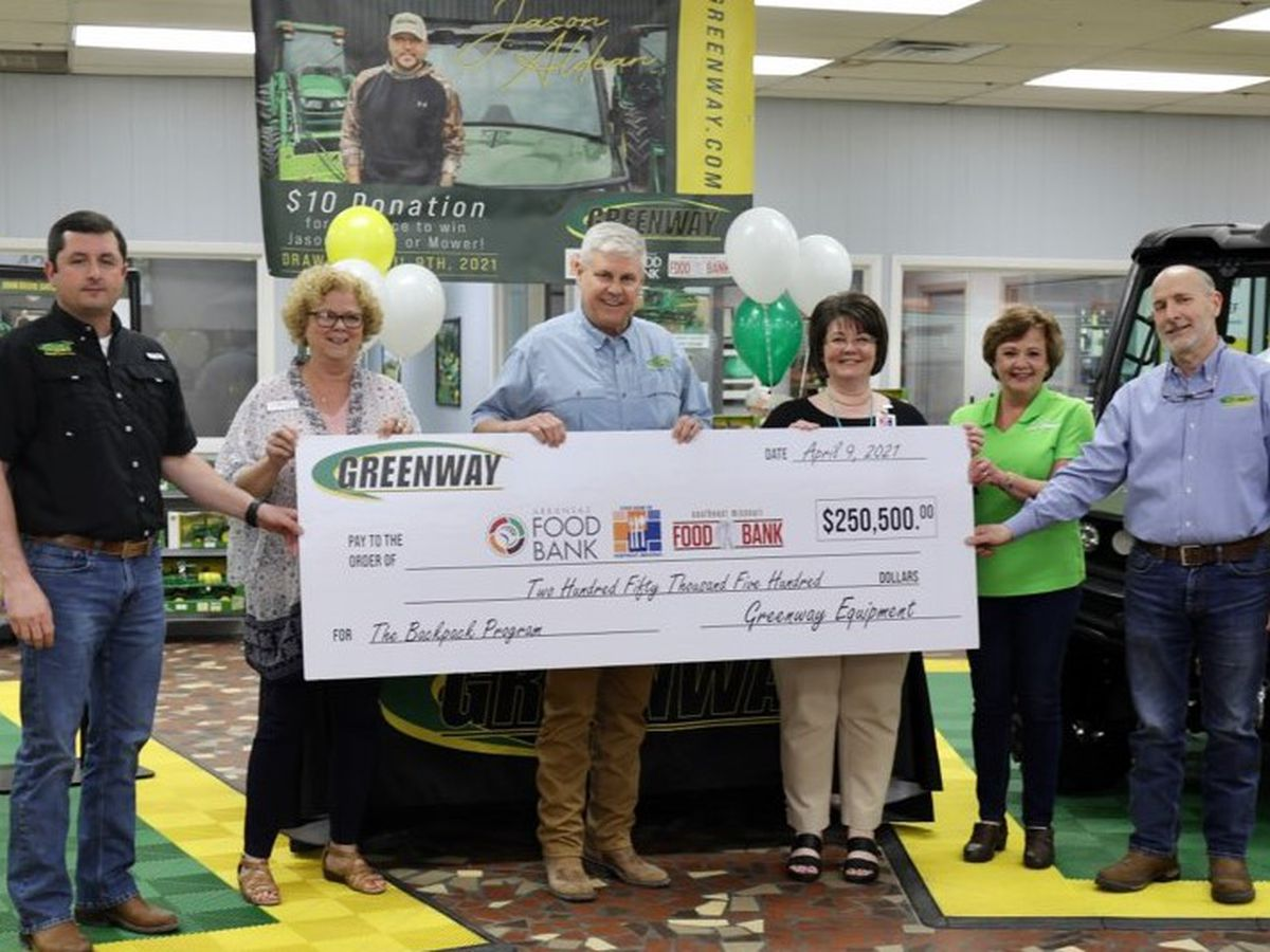 Greenway Equipment, Jason Aldean donate $250,500 to food bank backpack programs