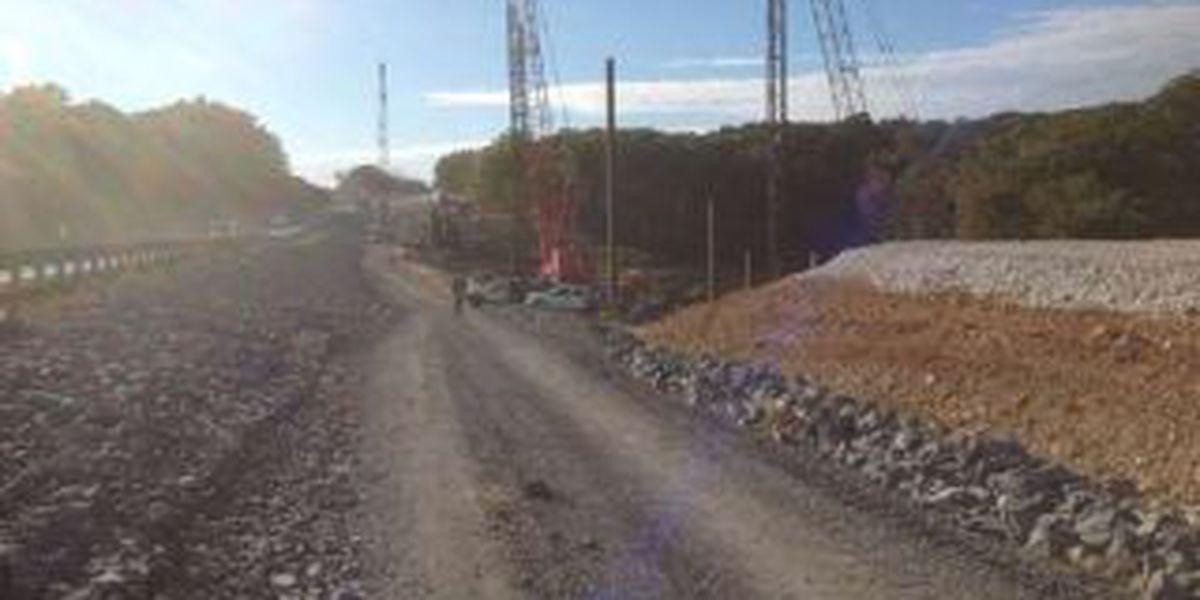 Contractors tour Eggner's Ferry Bridge project site