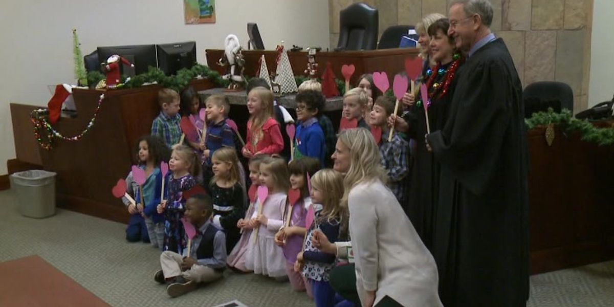 Michigan boy brings kindergarten classmates to adoption ceremony