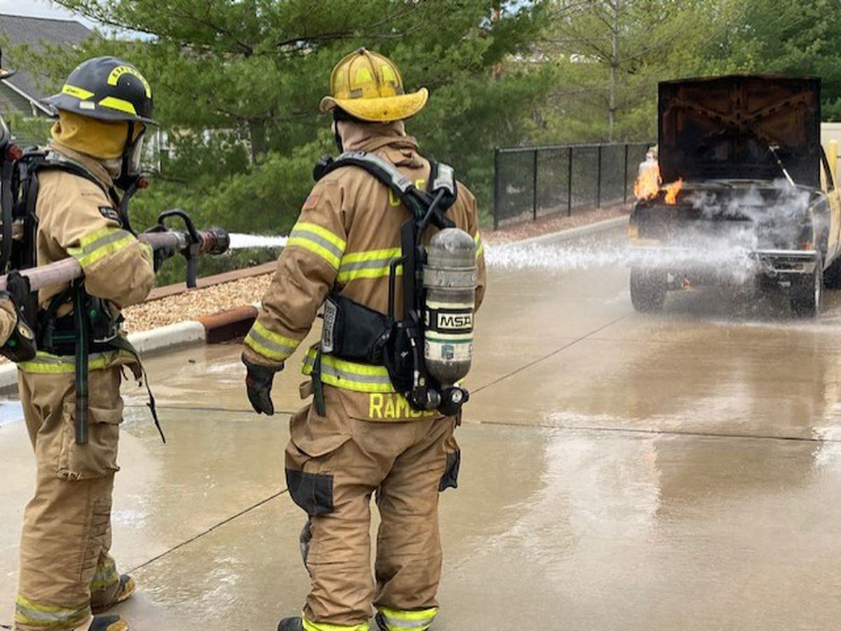 Heartland high school students train with firefighters