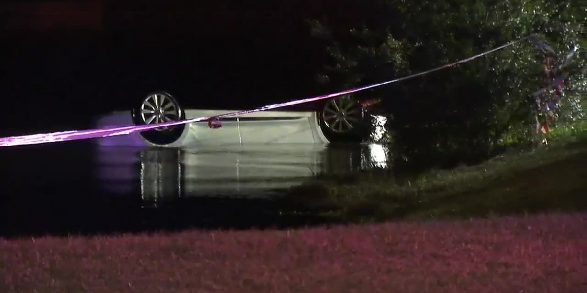 Raw: Car pulled from pond near home of Nix in Jacksonville