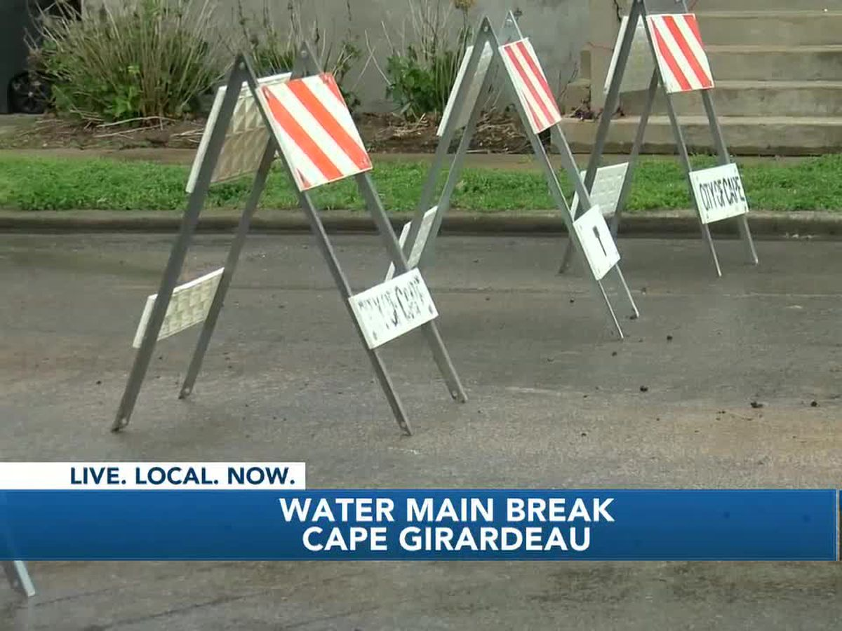 Water main break under Bertling St. in Cape Girardeau