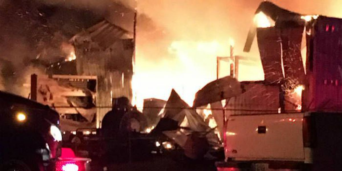 Warehouse catches fire in East Prairie