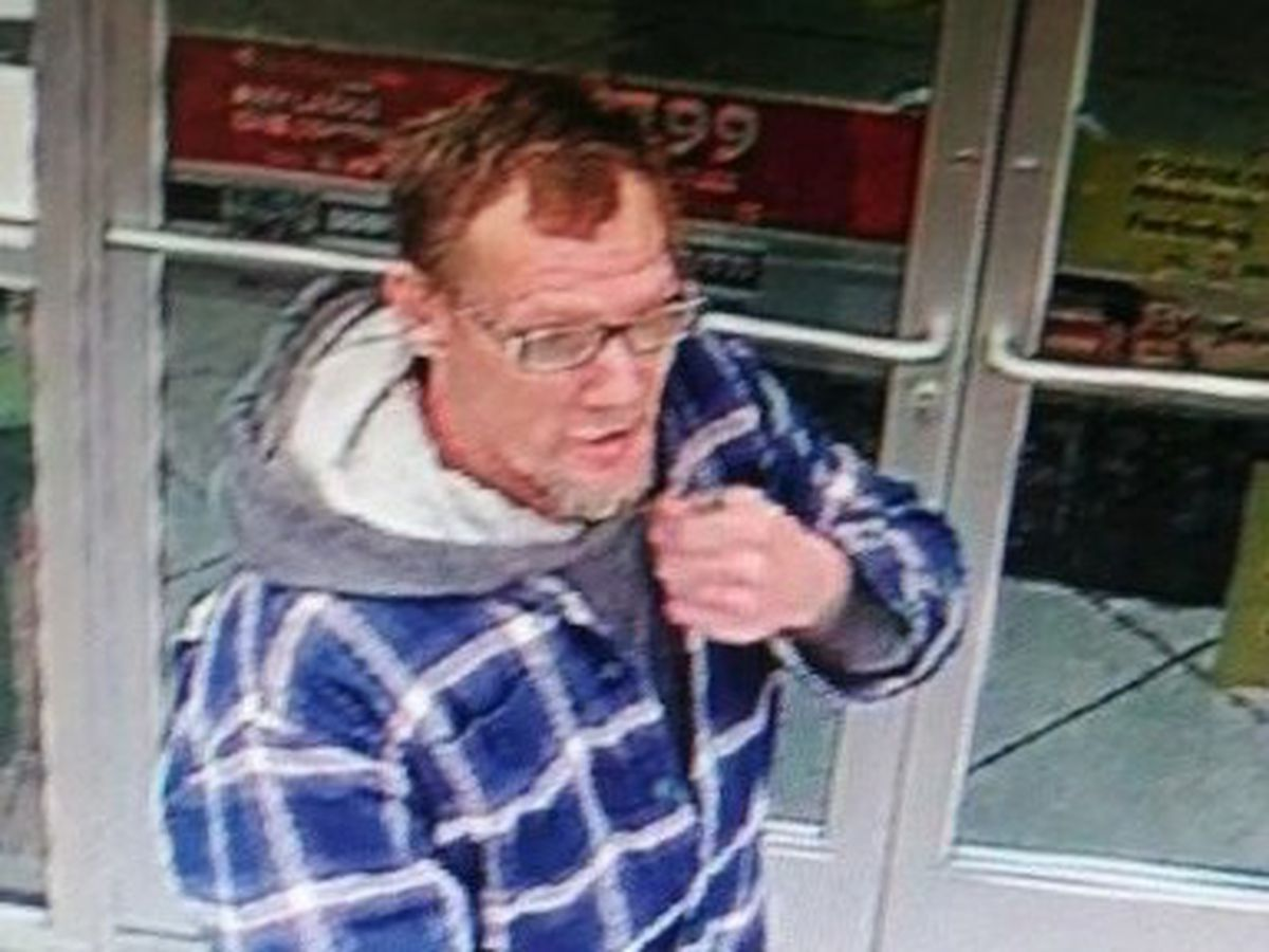 Suspect wanted in connection with running car stolen from convenience store