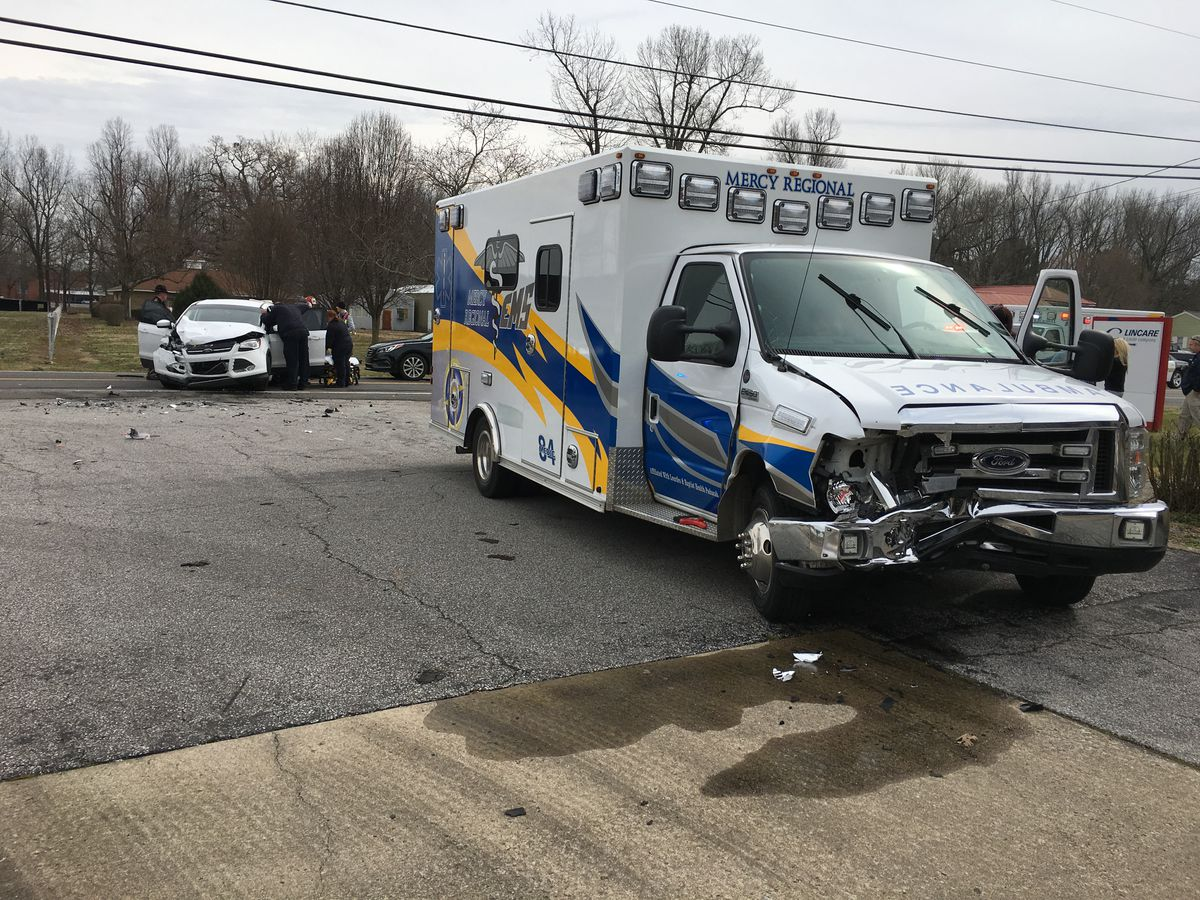 3 injured in multi-vehicle crash involving an ambulance