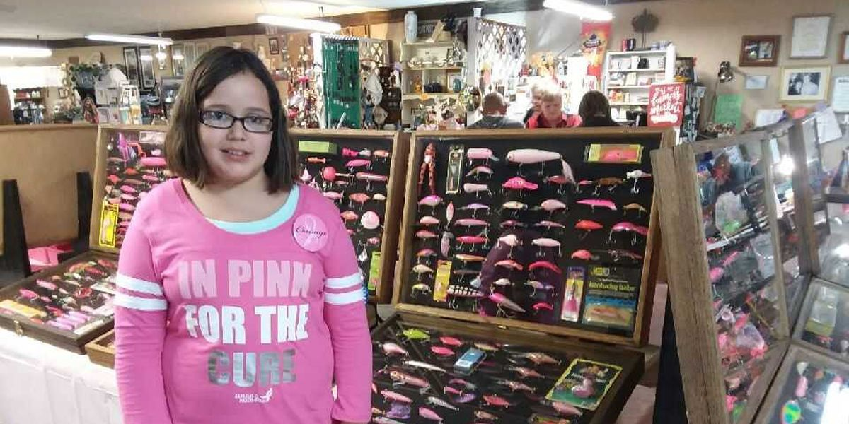 Carterville, IL girl collects lures to fight cancer