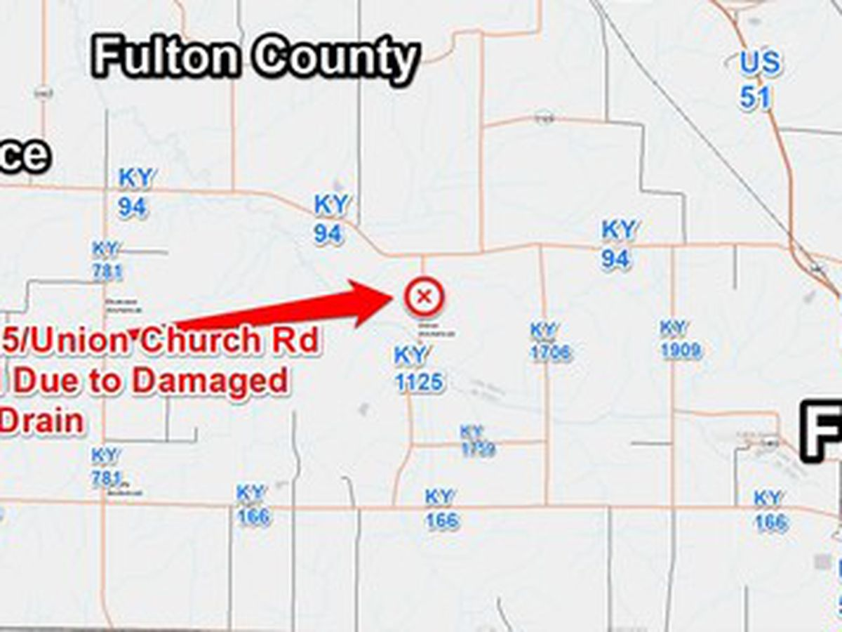 KY 1125/Union Church Rd Closed in Fulton Co.