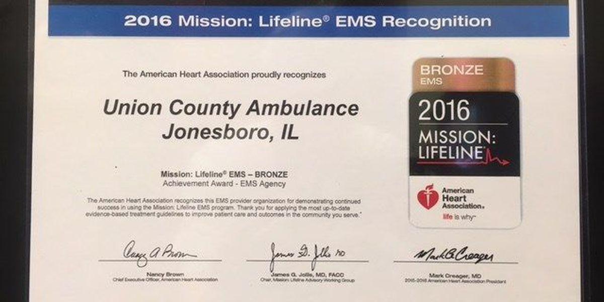 Union Co. Ambulance receives EMS award