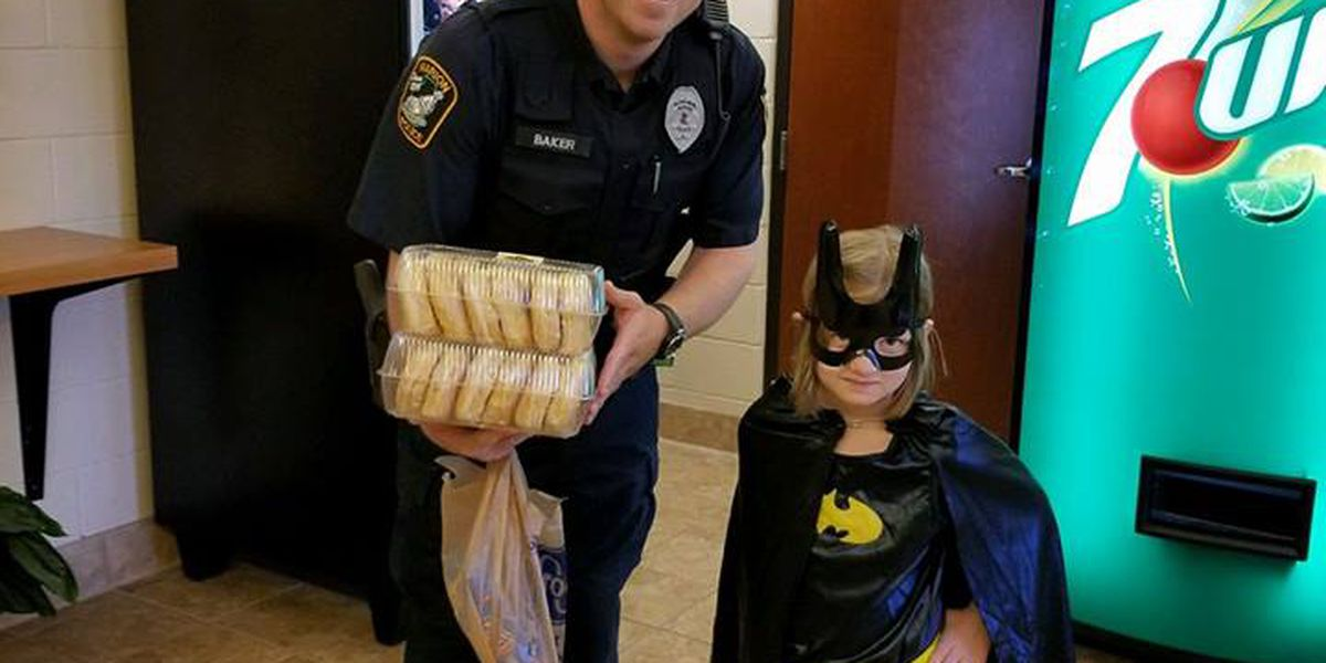 Batgirl surprises Marion Police