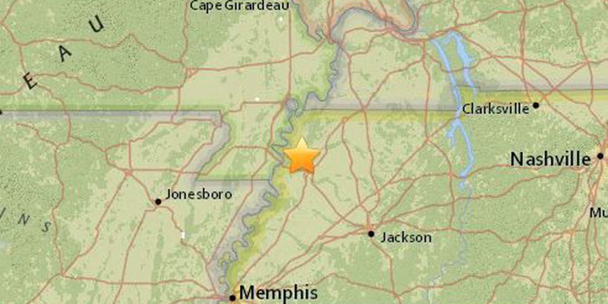 Small earthquake shakes parts of northwestern Tennessee
