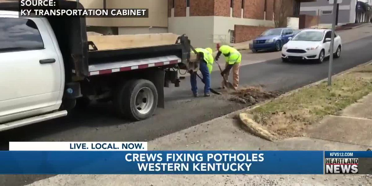 Crews patch potholes in Marshall Co., Ky.