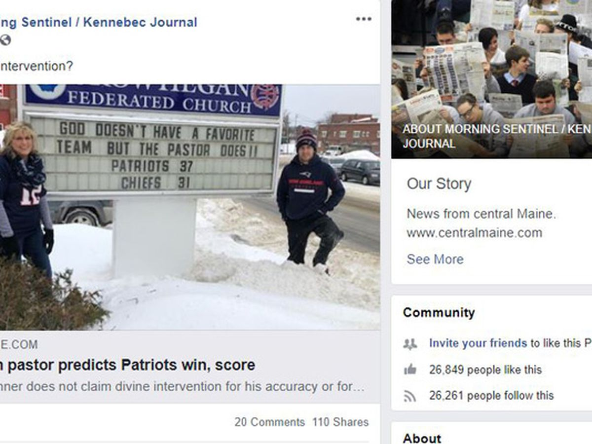 Pastor predicted score in New England Patriots' AFC championship win