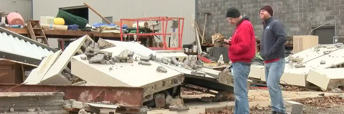 NWS preliminary report shows tornado damage in Jackson, Mo. and near Ware, Ill.