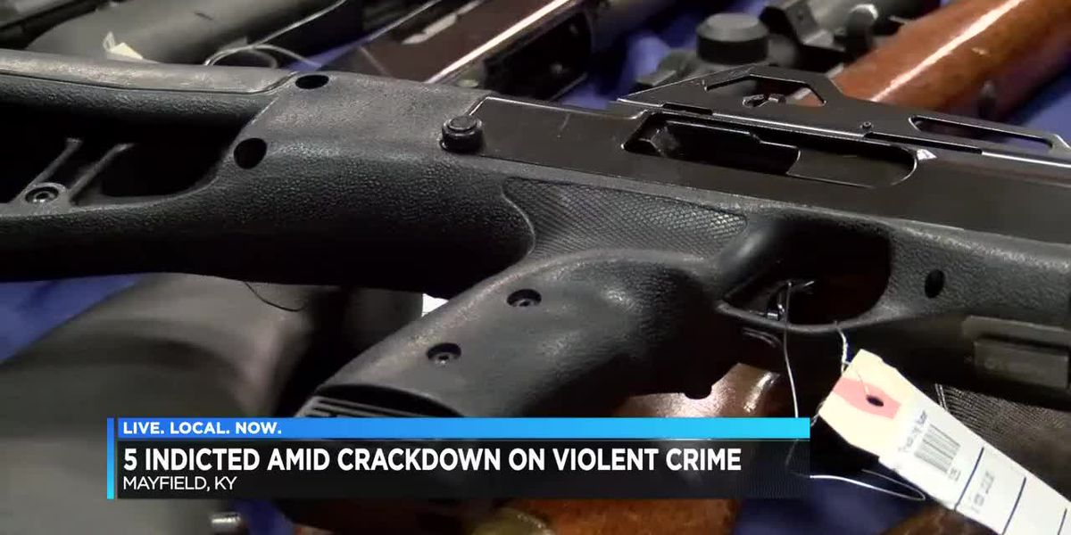 5 indicted amid crackdown on violent crime