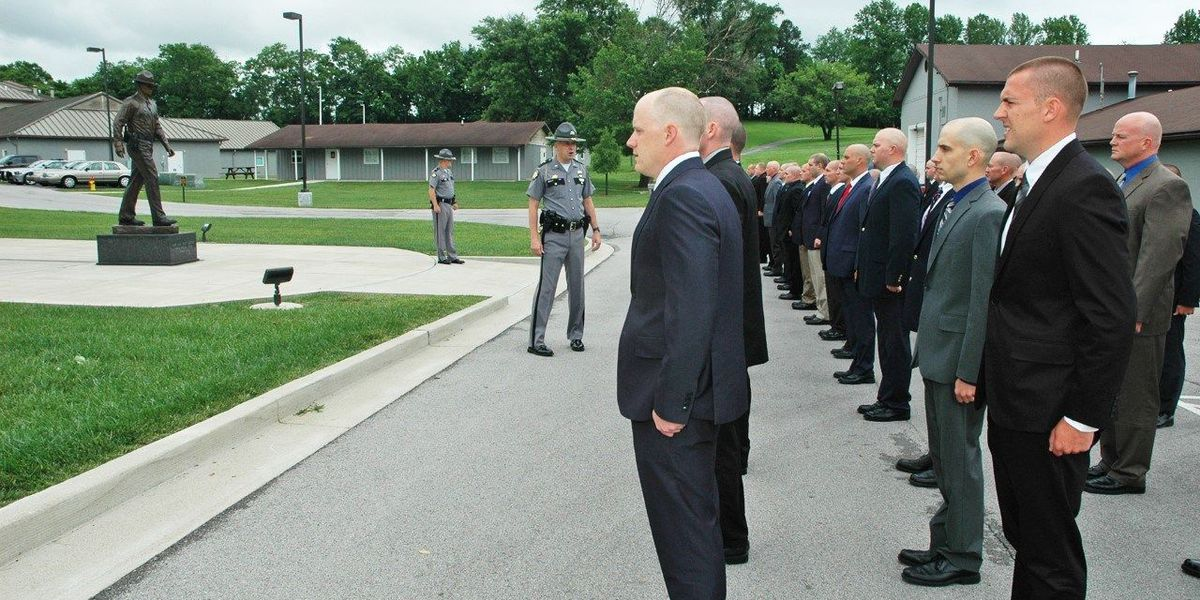 Local police officers begin training class to become state troopers