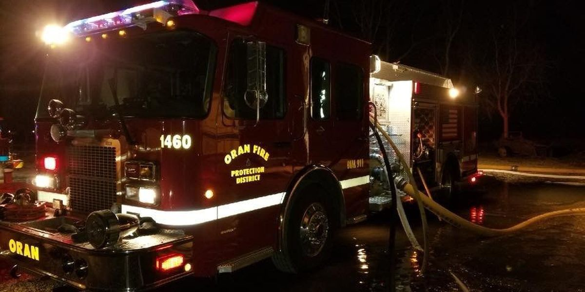Local fire crews battle icy conditions during house fire