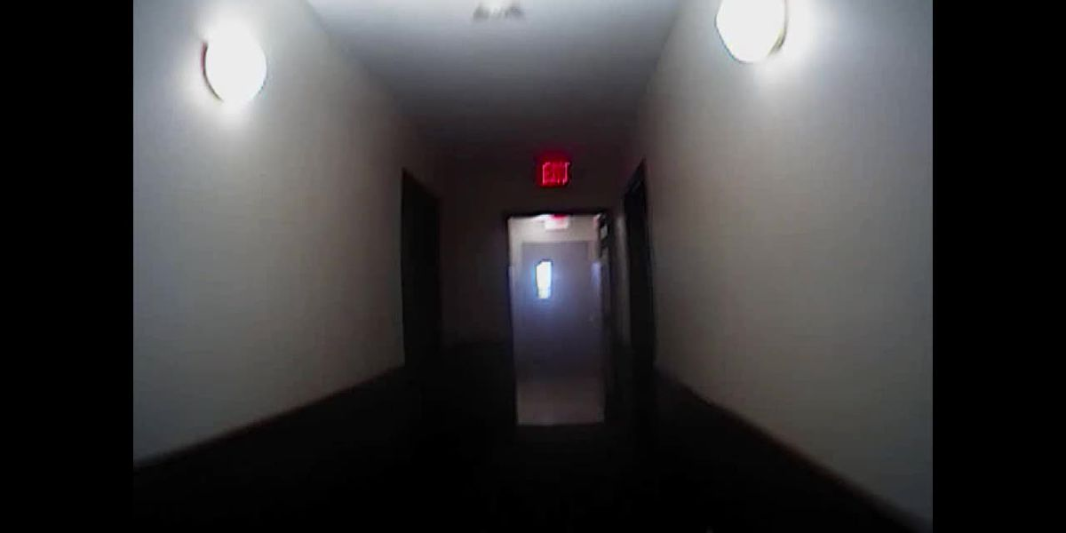 Body cam footage: First responder going into Miner hotel fire