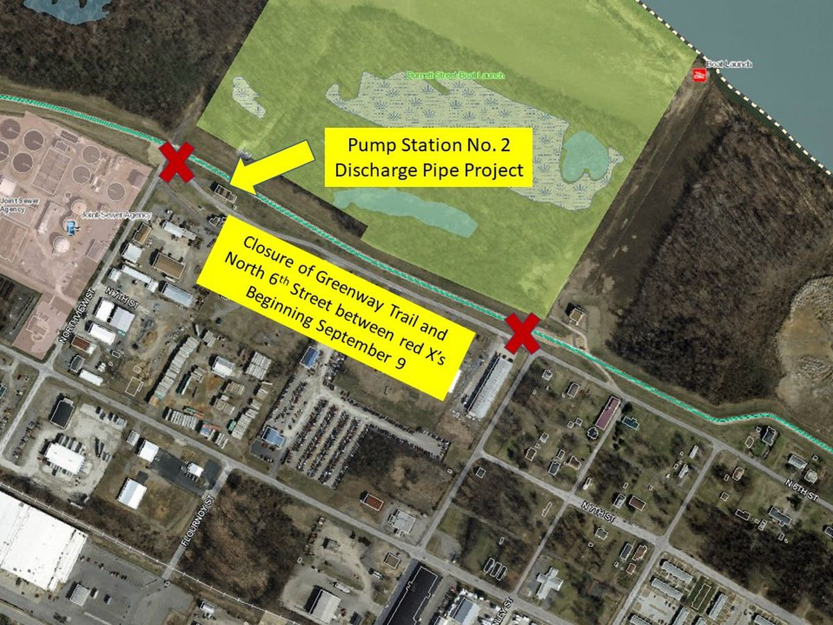 Portion of river trail closed for pump station project to reopen