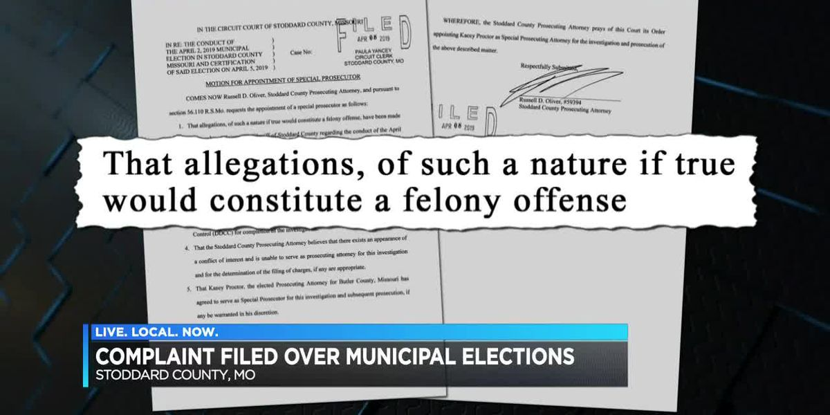 Complaint filed over municipal elections in Stoddard Co.