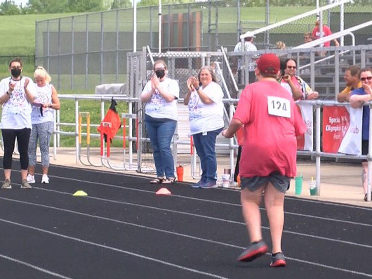 Special Olympics of Southeast Missouri athletes compete in track and field events